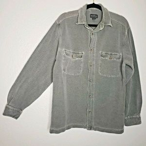 Woolrich Button Up Flannel Shirt Gray Men's Medium